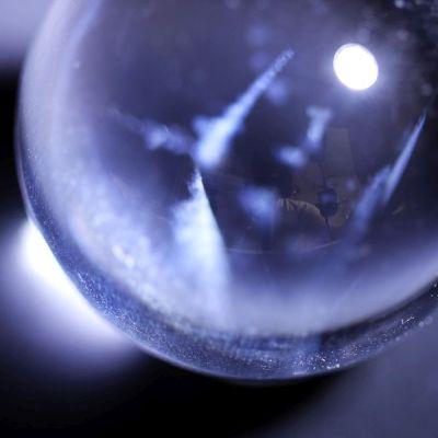 水晶丸玉−AA、A透明天然水晶丸玉