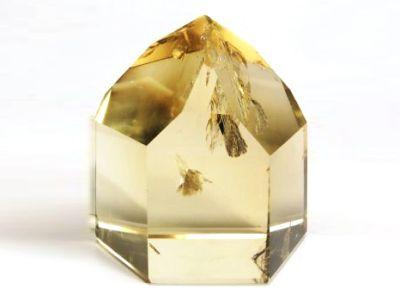 シトリン・黄水晶六角柱ポイント