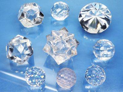 ミラーボール・ダイヤモンドカット水晶