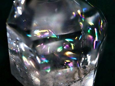 レインボー水晶水晶研磨ポイント