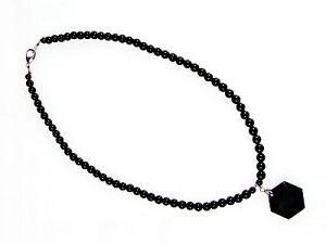 天然黒水晶モリオン ネックレス