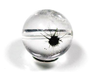 アクチノライト入り水晶粒販売天然石ビーズ(星入り水晶)